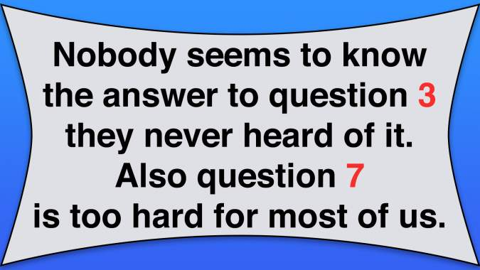 Impossible Intelligence Test