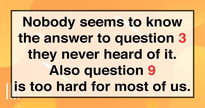 Challenging Trivia Quiz