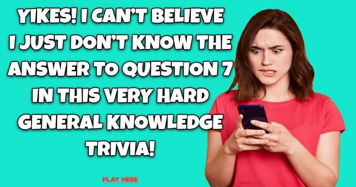 General Knowledge Trivia